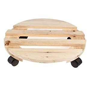 Amazon Com Lagute Wooden Dolly Down Under Plant Stand