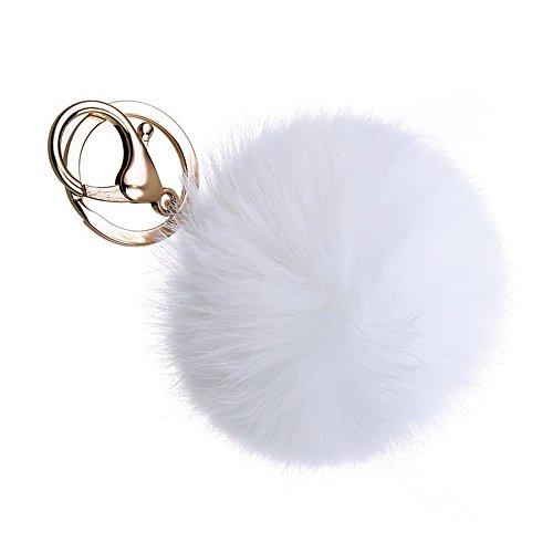 avieii-coniglio-genuine-pelliccia-di-fox-sfera-portachiavi-placcatura-in-oro-casa-portachiavi-auto-b