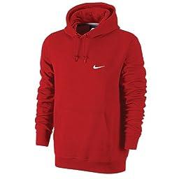 Nike Club Swoosh Mens Red Hoodie (L)