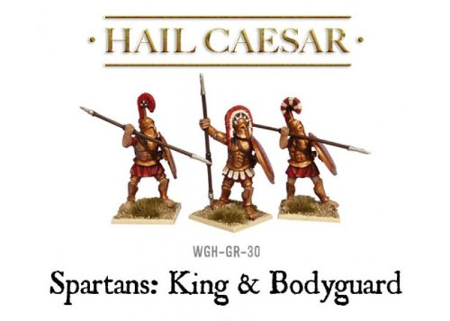 3 Piece Spartan King & Bodyguard Miniature Set