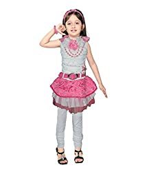 Motley Girls' Dress (2-3-033_2-3 Years_Pink _2-3 Years)