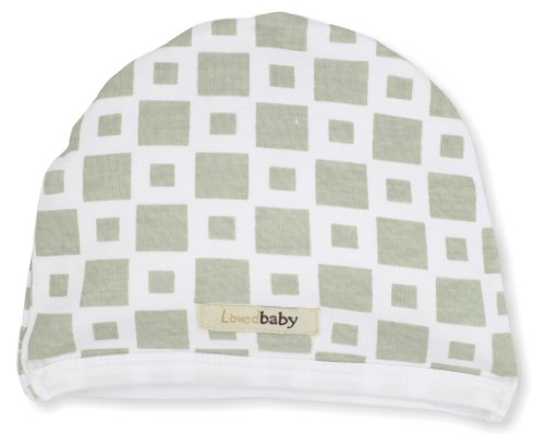 L'Ovedbaby Unisex-Baby Infant Tie-Back Cute Cap, Miles-Of-Tiles Green, 24 Months front-644825