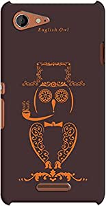DailyObjects English Owl Case For Sony Xperia E3
