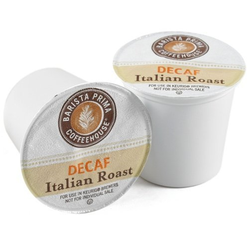 Barista Prima Coffee, Italian Roast Decaf, K-Cup Portion Pack for Keurig Brewers, 24-Count (Pack of 2) (Barista Prima Italian Decaf compare prices)