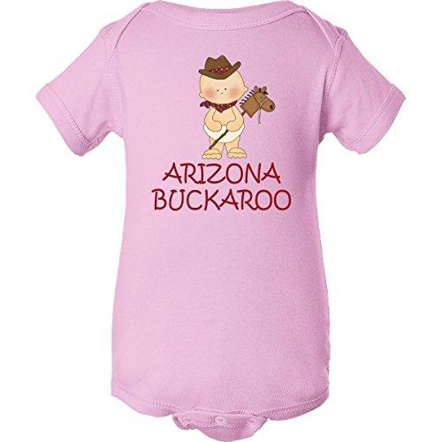 Inktastic Unisex Baby Little Arizona Buckaroo Infant Creeper 18 Months Pink front-658557