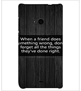 PrintDhaba Quote D-3977 Back Case Cover for MICROSOFT LUMIA 535 (Multi-Coloured)