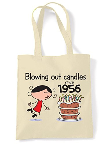 Blowing Out Candles Since 1956 60th Birthday Tote / Shoulder Bag