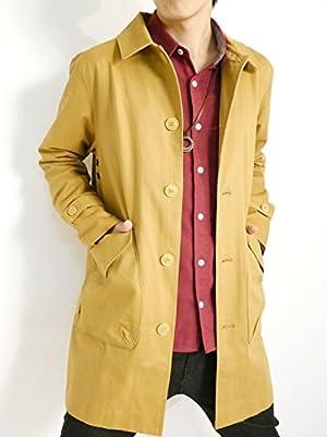 (オークランド) Oakland 高密度 ツイル ステンカラーコート チェスターコート コート 品質 デザイナーズ オータム ウィンター 着回し モード 秋 冬 メンズ ベージュ Mサイズ