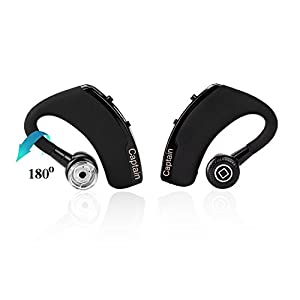 Bluetooth Headset, Captain FreeGo Stereo Wireless Bluetooth 4.0 Hands Free Headset Headphone for Apple IPhone 6,Plus,5,5s,4s,Galaxy Note 3 S4 S5
