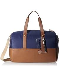 Madden Girl Women's Duffle Bag (Navy And Cognac)