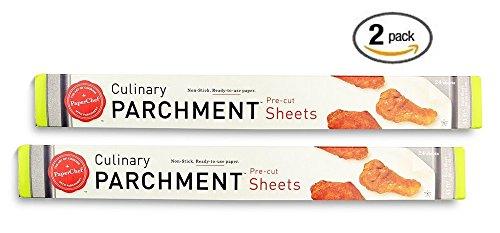 (Pack of 2) Non-stick Parchment Paper Baking Sheet Pan Liner (24 Pre-Cut Sheets Per Box) (Teflon Baking Paper compare prices)
