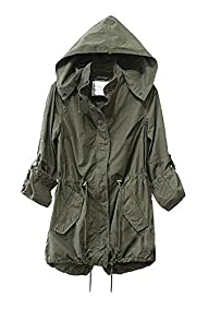 Vedem Women's Hooded Drawstring Milit…