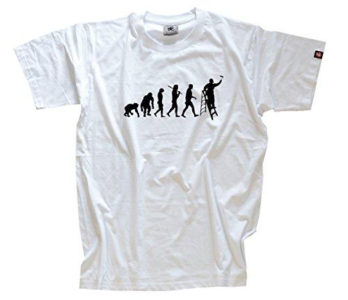 shirtzshop-t-shirt-pour-standard-edition-v2-peintre-artisans-tapezierer-evolution-m-blanc-blanc
