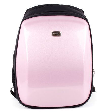 Asus 15.6 inch Notebook Laptop K52F-D1 Black with Pink Airport Checkpoint Friendly Reinforced Hard Backpack Caase with Inside Pockets for accessories