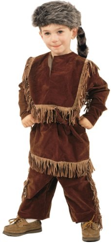 Daniel Boone Davy Crockett Costume with Raccoon Skin Cap