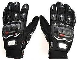 Autofurnish Pro-Biker Motorcycle Black Riding Bike Gloves
