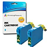 2 x NON OEM epson Office BX935FWD High Quality Compatible Printer Ink Cartridges - 2 Cyan T1292 (Also compatible with NON OEM epson Stylus SX235W, SX420W, SX425W, SX435W, SX445W, SX525WD, SX535WD, SX620FW, and NON OEM epson Office B42WD, BX305F, BX305FW,