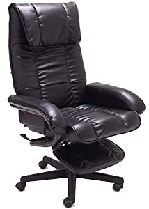 Com Executive Deep Cushion Office Recliner Chair Kitchen Dining