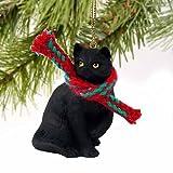 1 X Tiny Ones Black Cat Ornament w/scarf