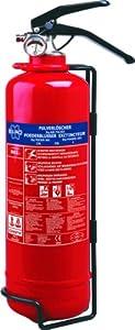 Elro BB2 Feuerlöscher 2 Kg/Pulverlöscher mit Halterung und Manometer