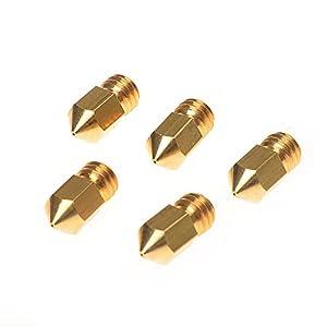 Kamo 5PCS 3D Printer 0.4mm Extruder Brass Nozzle Print Head for MK8 1.75mm ABS PLA Printer from Kamo
