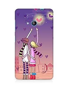 Amez designer printed 3d premium high quality back case cover for Microsoft Lumia 535 (Love Couple)