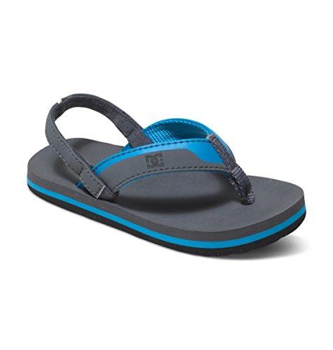 DC Grommet Sandal (Toddler), Charcoal/C Blue, 9 M US Toddler