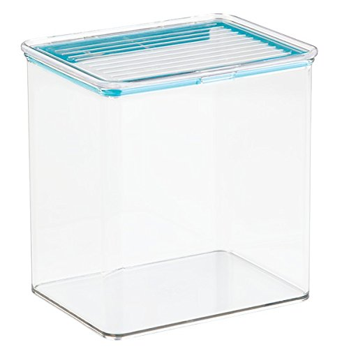 Mdesign pet storage container box with sealed lid for dog for Clear bathroom containers
