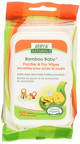 Aleva Naturals Bamboo Baby Pacifier and Toy Wipe - 1