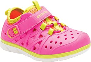 Stride Rite Made 2 Play Phibian Water Shoe, Pink, 8 M US Toddler