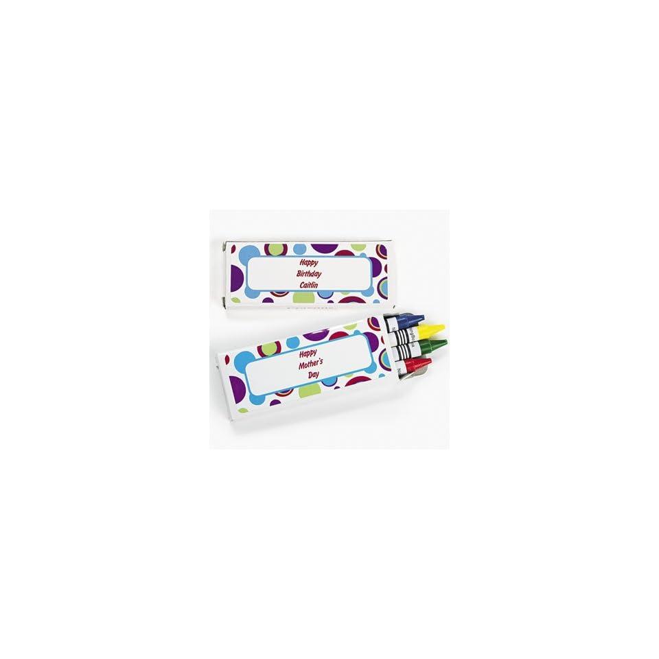 Personalized Bubble Bop Crayon Boxes Basic School Supplies
