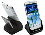 Samsung Galaxy SIII Dual Desktop Charger Cradle Dock with Spare Battery Charging Slot for Samsung Galaxy S3 S III - Includes 2300mAh Spare Battery