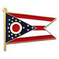 Ohio State Burgee Flag OH Lapel Pin