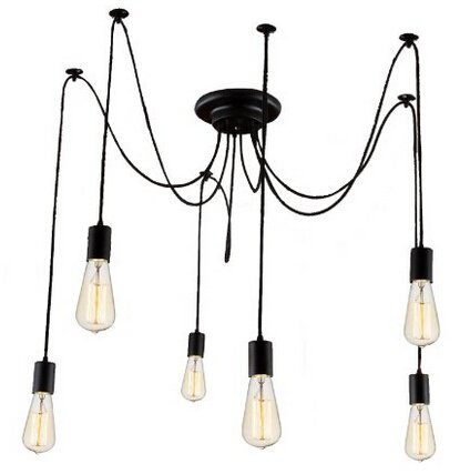 Kiven 6 Heads Vintage Chandelier DIY Home Ceiling Light