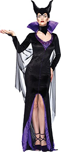Disney Women's Maleficent Beauty Costume, Large