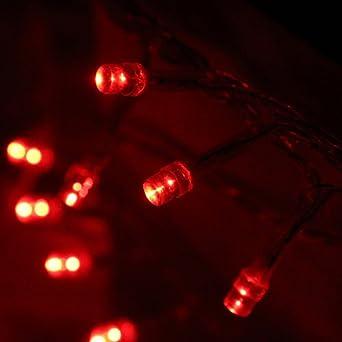 Innoo Tech 3M Guirlande lumineuse à piles avec 30 LED, décoration intérieure et extérieure (Rouge)