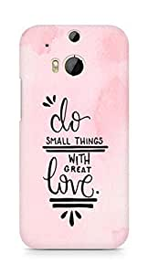AMEZ do great things with love Back Cover For HTC One M8