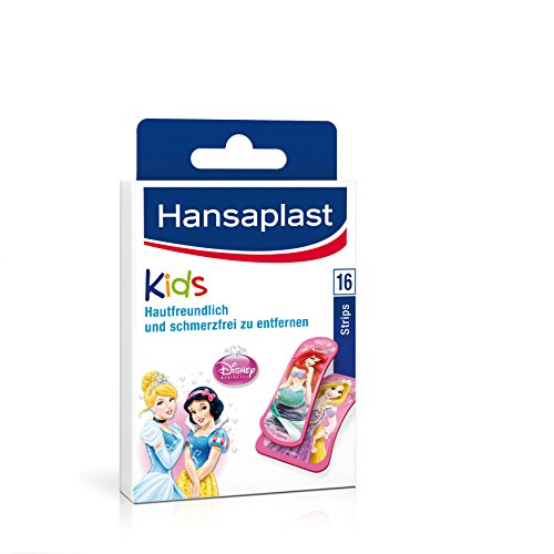 Hansaplast Junior Strips Princess, 2er Pack (2 x 16 Stück)