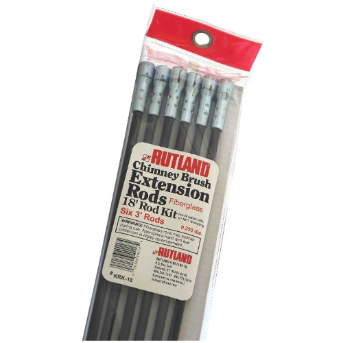 Rutland KRK-18 Fiberglass Chimney Brush Rod Kit (Chimney Sweep Extension Rods compare prices)