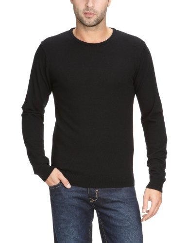 Selected Homme Tower merino crew neck Men's Jumper Black Medium