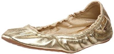Ballasox by Corso Como Women's Festive Ballet Flat, Gold Metallic, 13 M US
