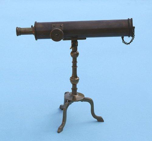 10-Inch Antique Patina Brass Victorian Desk Telescope
