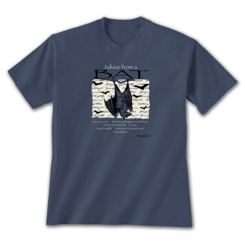 Advice From A Bat ~ Indigo Blue T-Shirt