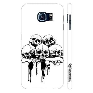 Samsung Galaxy S6 Skull 'N Bone designer mobile hard shell case by Enthopia