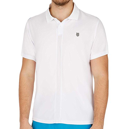 K-Swiss busto-vestiti per Hyper Court Polo II Men, Bianco, L, 101263-134