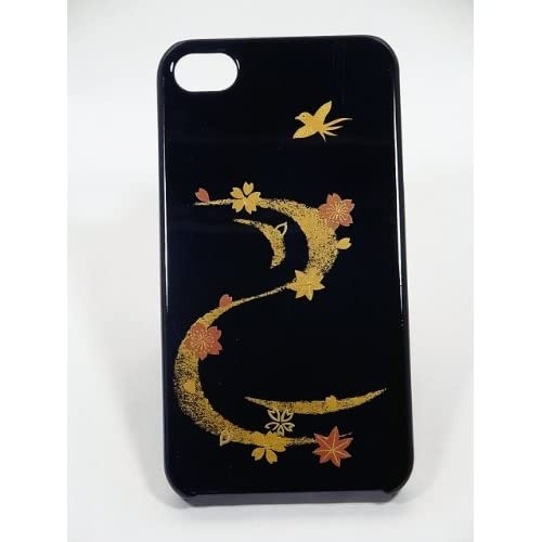Amazon.com: Maki-e iPhone 4/4S Cover Case Made in Japan - Nami ni Shunju (Spring & Autum's Wave): Cell Phones & Accessories from amazon.com