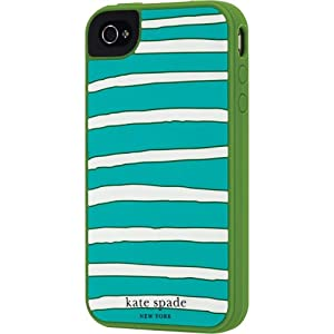 Contour Design Kate Spade Horizontal Stripe Case for iPhone 4 Green 019860