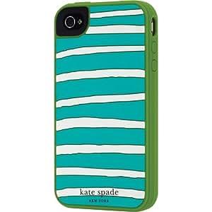 Contour Design Kate Spade Horizontal Stripe Case for iPhone 4 Green 019860