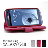 GMYLE(R) Pink PU Leather Wallet Case Cover Stand for Samsung Galaxy S3 i9300 S III 4 G LTE