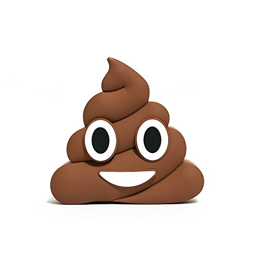 Emoji-Battery-Brown-Poop-Emoji-2600mAh-5V15A-Best-Quality-Portable-Charger-Power-Bank-Battery